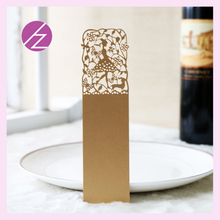 Parel papier craft wedding card papier laser cut bookmark SQ-34