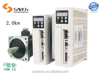 2.0 kw high performance 220v 3 phase ac motor servo driver with delta fan and Mitsubishi IGBT