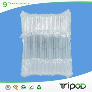 Inflatable air bag buffer material plastic air bubble bag , air cushion bag for DVD / CD packing