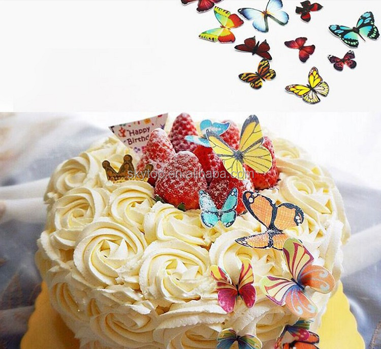 Cake Decorating Edible Paper : Edible Cake Decoration,Rice Paper Sheets - Butterfly Image ...