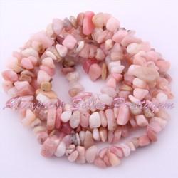 Ожерелье розовый опал