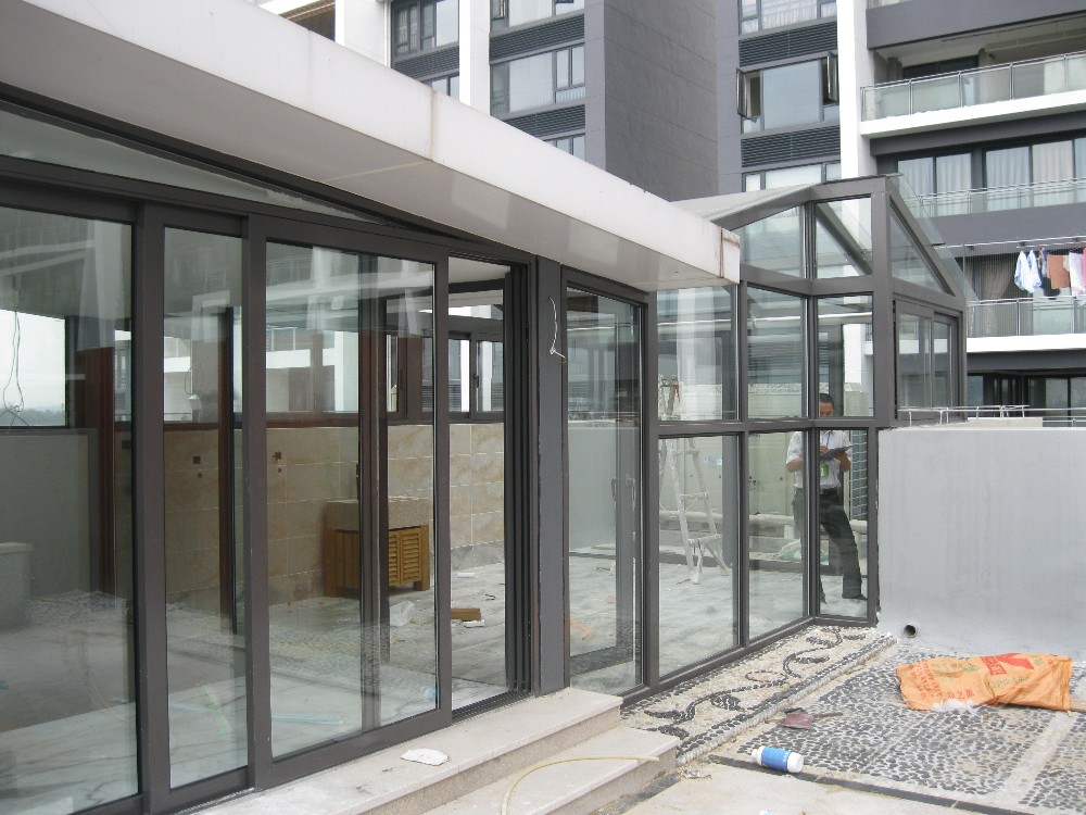 Hot sale double glass aluminium soundproof used exterior for Exterior double french doors for sale