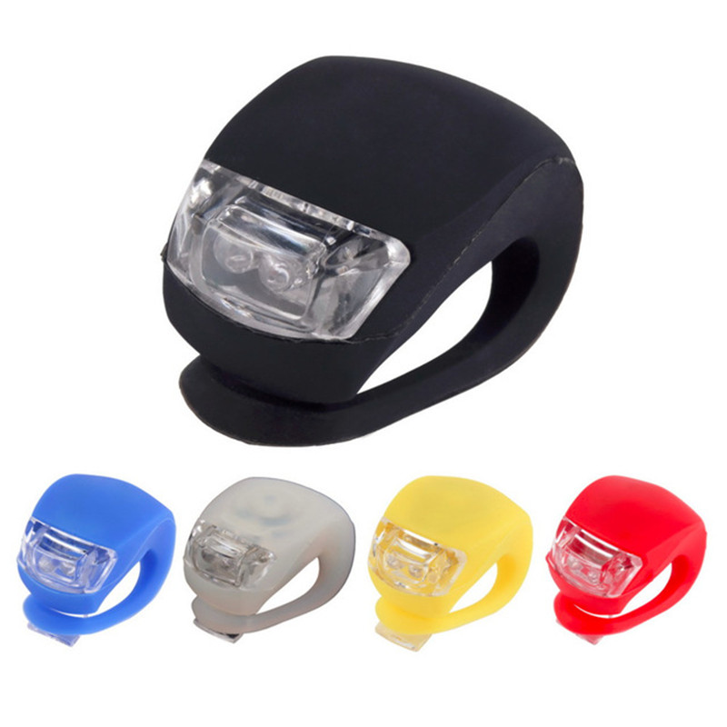 3 Mode Helmet Silicone led bike wheel lights 2 led bicycle light lamp waterproof bicycle led light