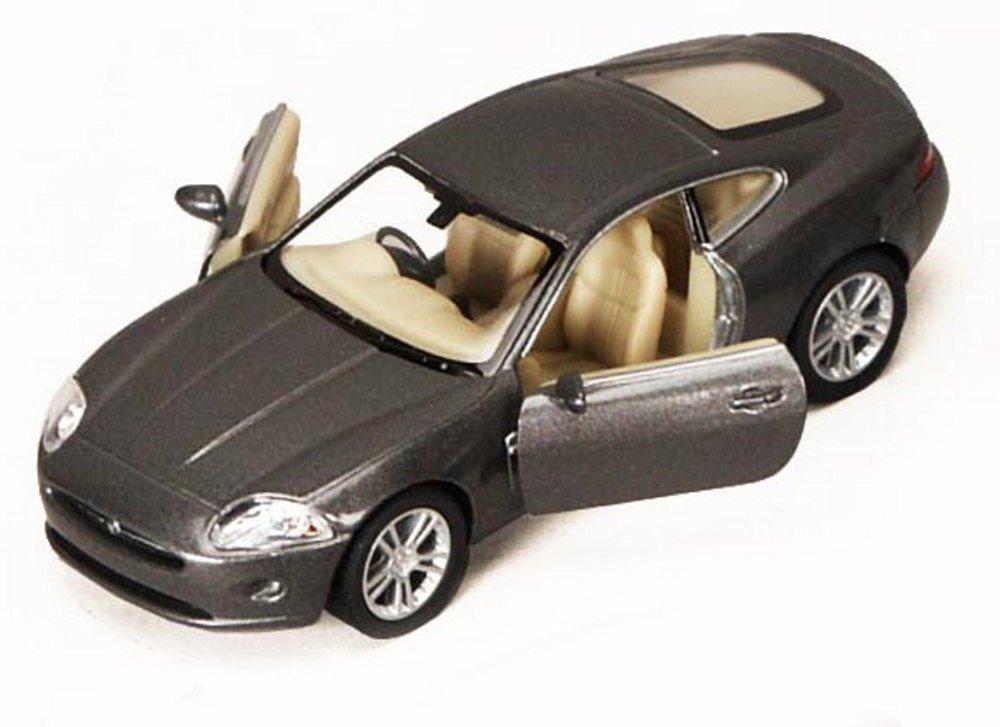 Jaguar XK Coupe, Gray - Kinsmart 5321D - 1/38 scale Diecast Model Toy Car