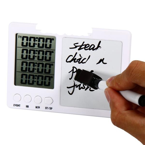 Timer da cucina con lavagna magnetica frigorifero magnetico orologio orologio da parete - Lavagna magnetica da cucina ...
