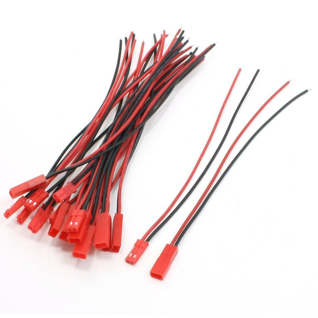 SODIAL(R) 10 Pairs 22AWG 150mm Cable w 2Pin JST M F Plug for RC Battery Motor Connection