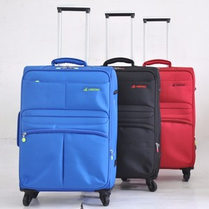 Factory Supply Black Nylon Wheel Spinner Set 4 piece Travel Trolley Luggage