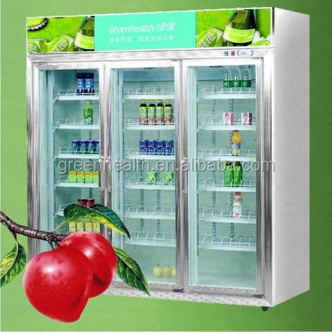 Supermarket/shop 3 Doors Used Refrigerators Supermarket With Glass ...