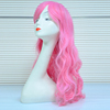 Wholesale Cheap Short Pink Synthetic Wig,Crazy Long Cosplay Wig For Party