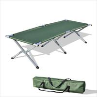 Durable adventure camping single cot army metal folding bed for refugee