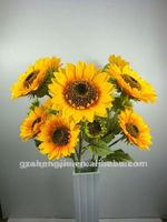 artificial silk sunflowers