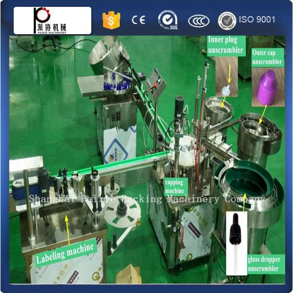 (Have video)automatic small bottle electronic cigarette liquid filling and capping machine small manufacturing machines