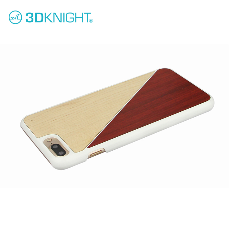 Laser Engraving Mix Colored Wood Custom Design Wholesale Cell Phone Case For iPhone 8 8plus Wooden Case
