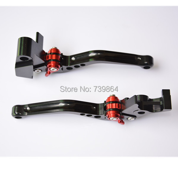 New Short Black CNC Brake Clutch Levers For Kawasaki Versys 650 2006-2008 Brake Clutch Levers free shipping