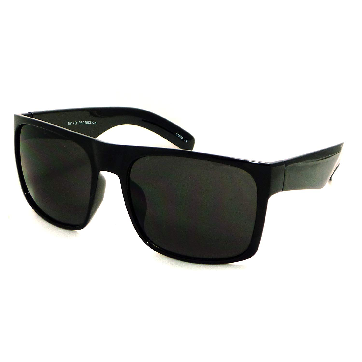 e1f7319a0fee OVERSIZED Super Dark Black Lens Men s Classic Square Frame Sunglasses