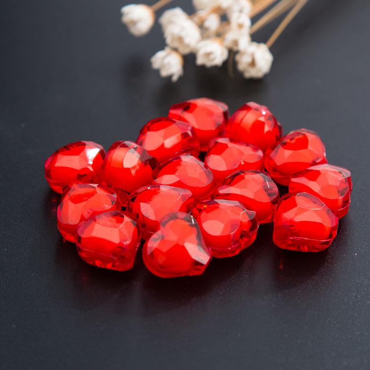 Granos de acrílico 12mm Rojo-Paquete de 30