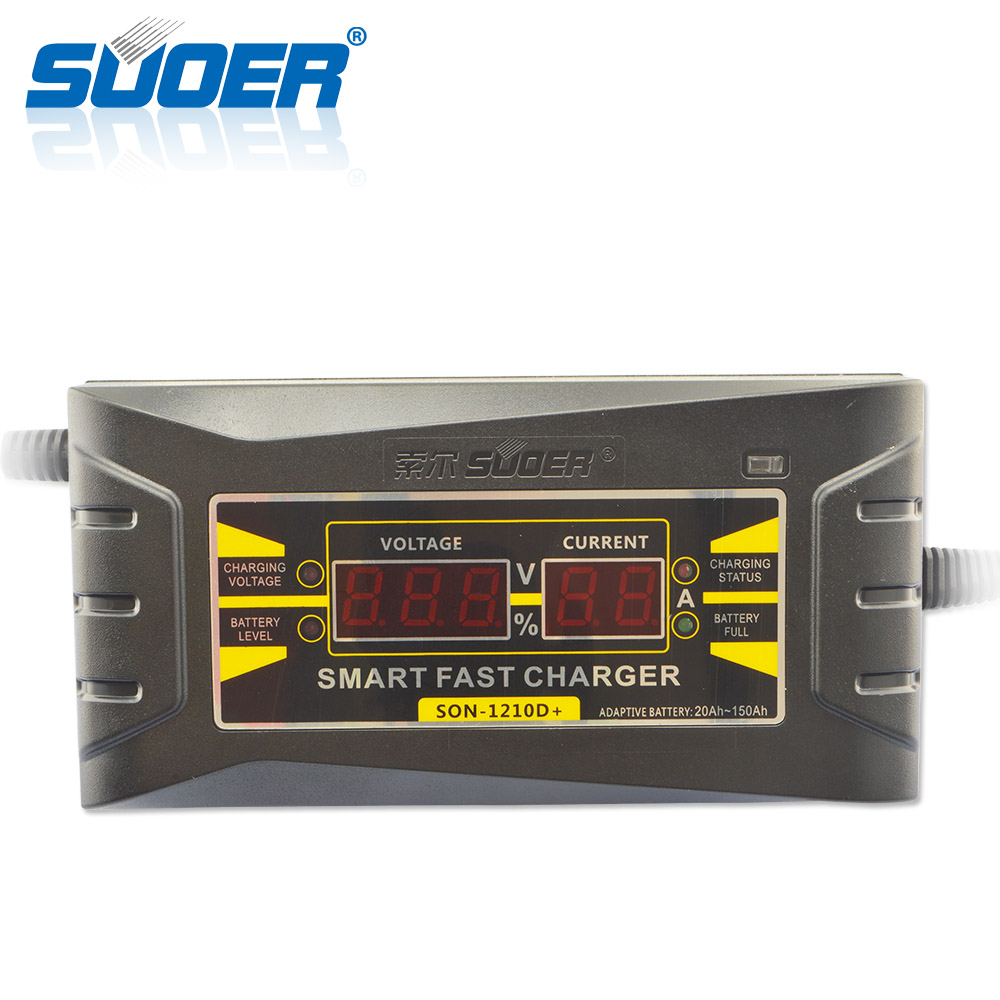 Suoer online Grosir 12 V 10A surya mobil smart auto portabel baterai charger