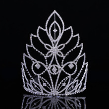 High quality wedding rhinestone tiaras big pageant crowns large bridal tiara