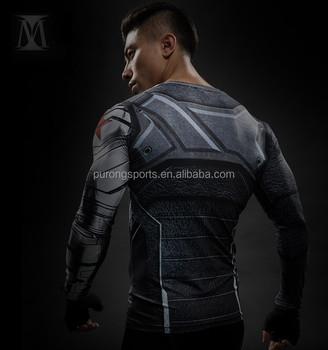 Capitán Impresas De Guerra Soldado Hombre Fitness 3d Hierro Camisetas Hombres Civil Camisa La América Tee Manga Larga Invierno Qrsdht