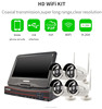 Vitevison 4Ch CCTV camera system Home Security System with wifi ip cameras and 10 inch Display Screen