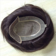 human hair short hair wig men with lace front