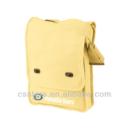 Yellow Dyed Canvas Field Bag Messenger Bag