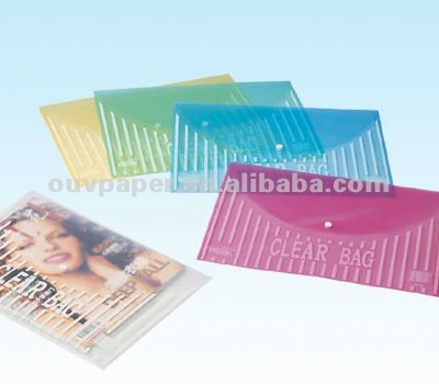 Transparent Colourful Envelop with Button