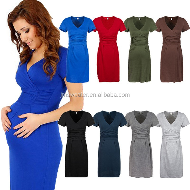 Formal Design Short Sleeve Maternity Clothing Maternity Dress For