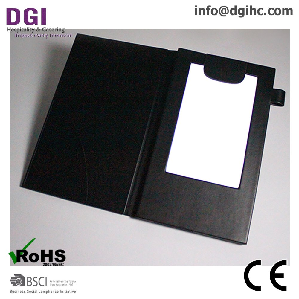 China Online Shop Customizable bill clip check presenter menu holder Big Supply Wholesale Cheap