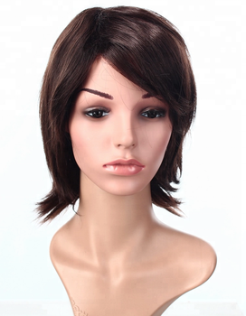 Wendy Brand Short Synthetic double leaf Wigs hair for Black women Popular  in 2018 4ee75540d