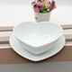 White fashionable Chinese white heart shaped soup and candy ceramic serving sauce bowl set for wedding party