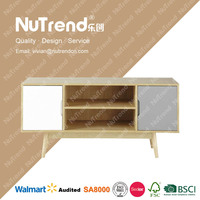 100% Eco-friendly french style luxury wood tv stand