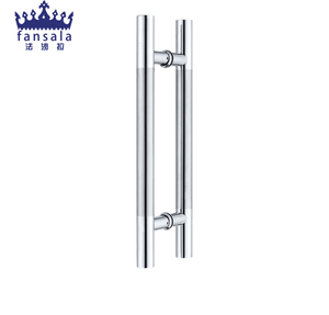 High Quality H Shaped Glass Door Handle , Stainless Steel Tube Shower Pull Handle FSL-104CL