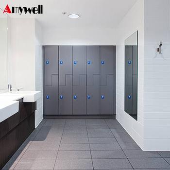 Amywell Customized Waterproof Formica Hpl 3 Doors Mudroom Lockers