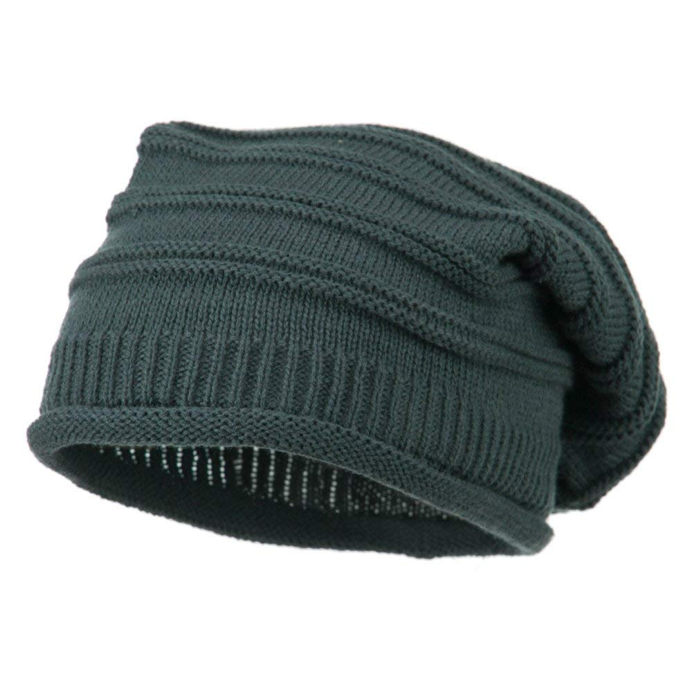 5138a5974f787 Get Quotations · Stripe Patterned Rolled Brim Vintage Beanie - Grey