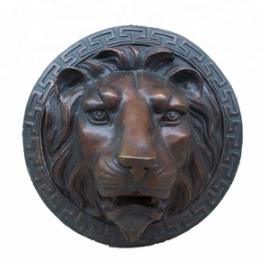 Hot sale New product wall mounted bronze lion head statue