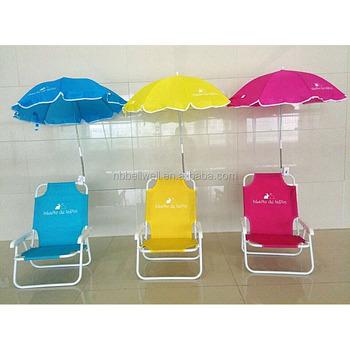 Outdoor Kids Sunscreen Clamp Umbrella Beach Chair