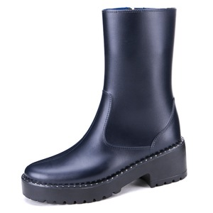 fashion shoes high quality navy waterproof ankle boots for women rain boots
