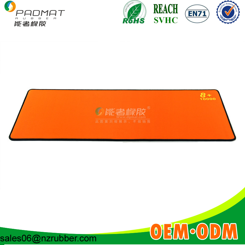 wholesale top quality super soft orange mouse pad
