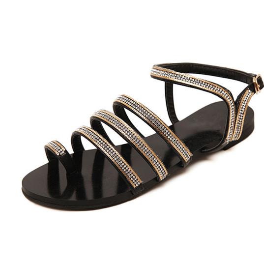 Womens Flat Fancy Sandals/new Design Fashion Flat Summer Sandals ...