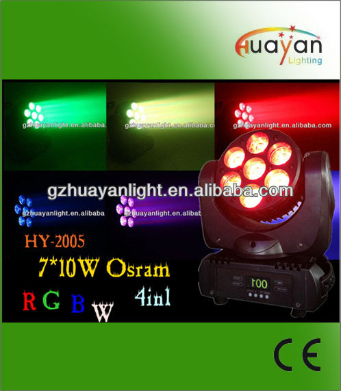 New 7*12w 4in1 LED Beam and Wash Moving Head light for DJ stage light