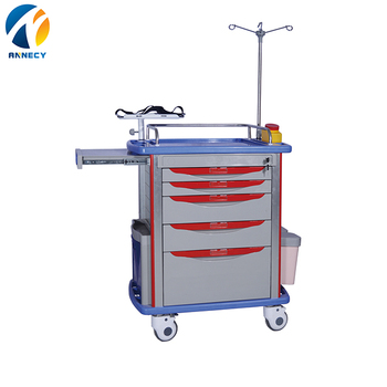AC-ET003 emergency trolley with best selling price hospital trolley for sale