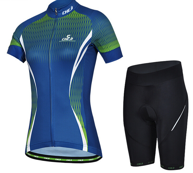In-Stock 2015 Wholesale Breathable <strong>Specialized</strong> Cycling Jersey Set For Women