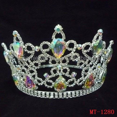 mode ab couronne beaut pageant diadmes et couronnes pas cher bijoux de couronne de marie diadme - Diademe Mariage Pas Cher