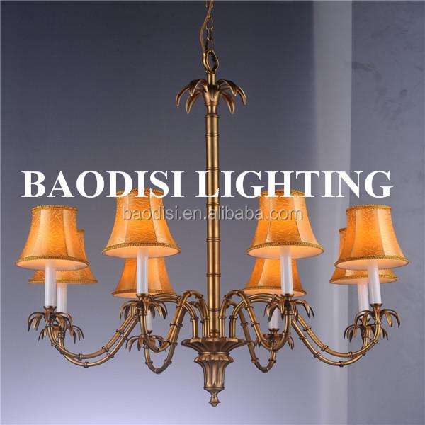 americano moderno stile rame bronzo lampade lampadario paralume in ...