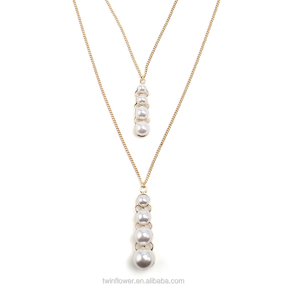 Multi Layer Pearl Necklace, Multi Layer Pearl Necklace Suppliers And  Manufacturers At Alibaba