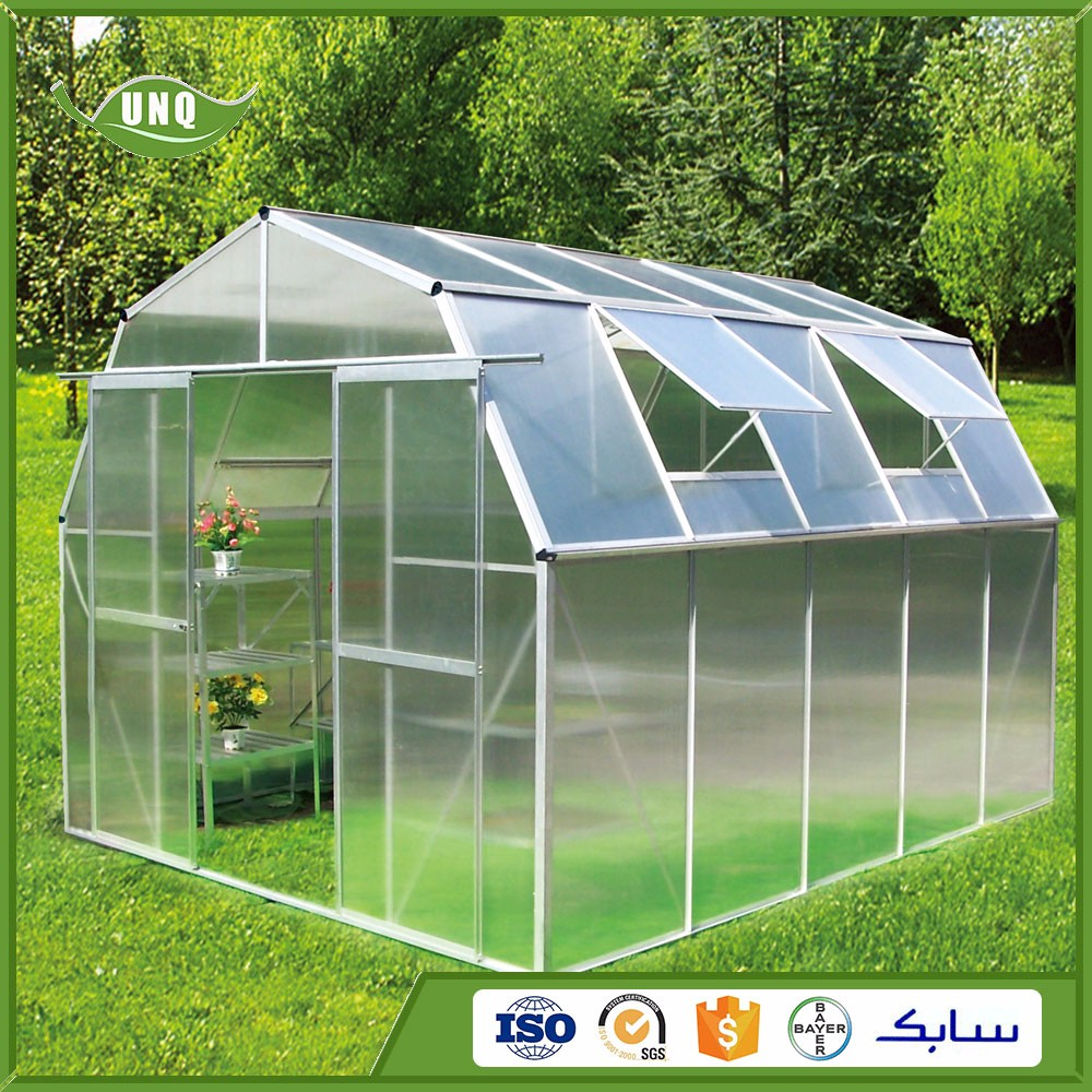 low cost commercia plastic polycarbonate used agricultural greenhouse for sale