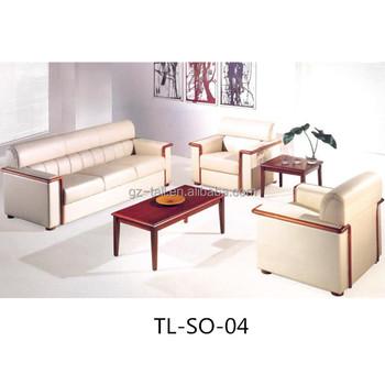 Wood Material Leather Home Furniture Sofa