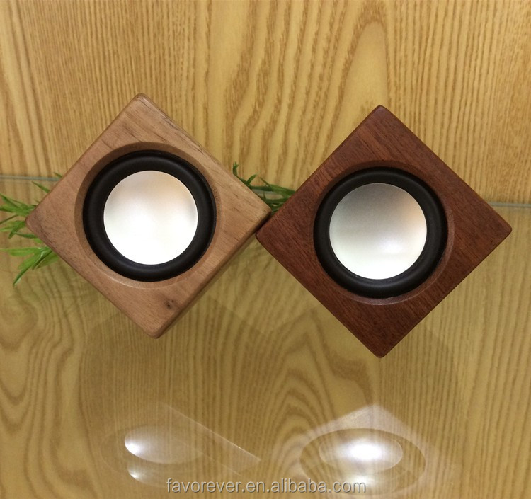 Solid Wood Speaker Cube Design Supper Mini China Supplier