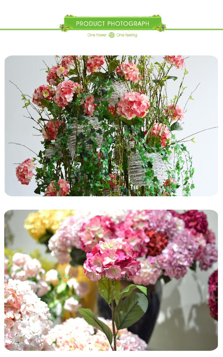 Hot sell artificial hydrangea silk flowers wedding wall